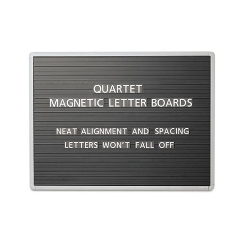 Magnetic Wall-Mount Letter Board, Black w/ Gray Aluminum Frame