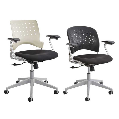 Manager Chair w/ Black Upholstered Seat