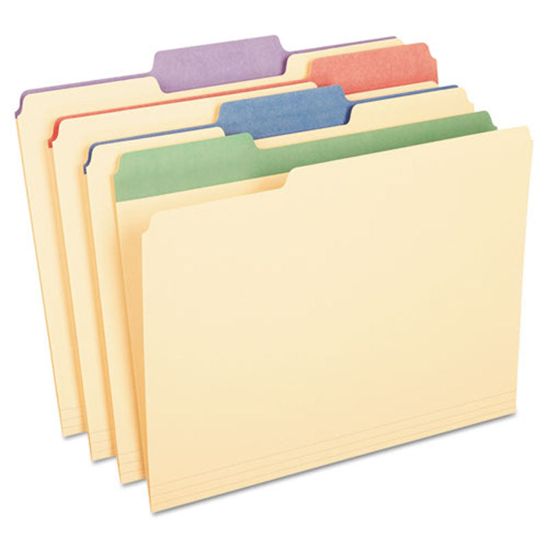 "Manilla Colored Tab File Folders, 3/4"" Expansion"