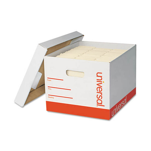 "Medium-Duty Lift-Off Lid Boxes, Letter/Legal, 11 3/4""w x 14 3/4""d x 9 3/4""h, White (set of 12)"