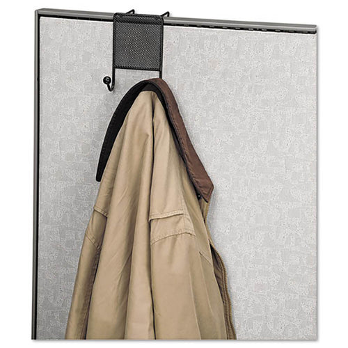 "Mesh Partition Coat Hook, 4 1/2"" x 5 1/4"" x 6"", Black"