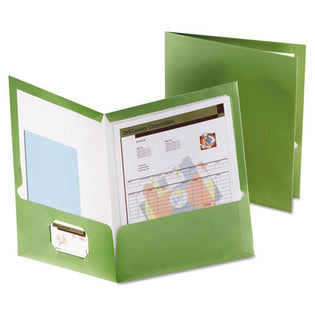 Metallic Laminated Twin-Pocket Folders, Letter, Box of 25