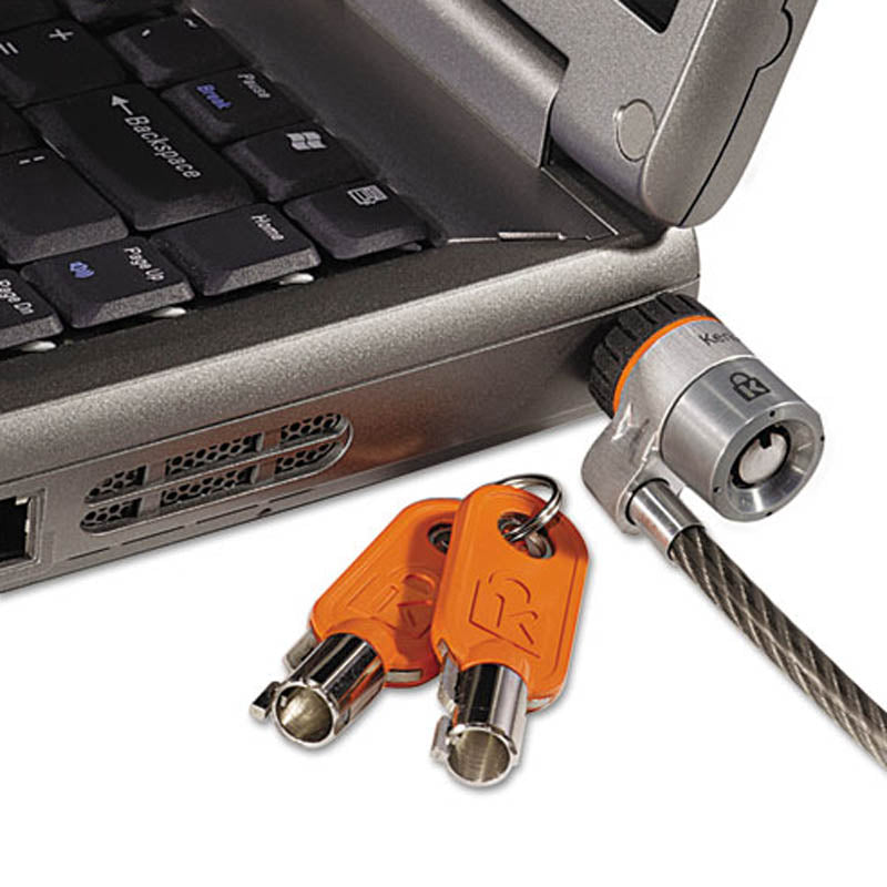 MicroSaver Keyed Notebook Lock w/ 6' Steel Cable