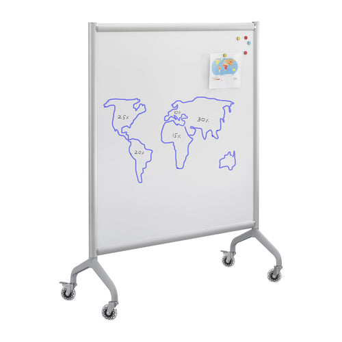 Mobile Magnetic Whiteboard Collaboration Screen