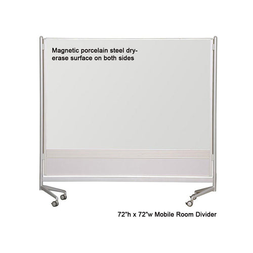 Mobile Porcelain Steel Magnetic Whiteboard Room Divider