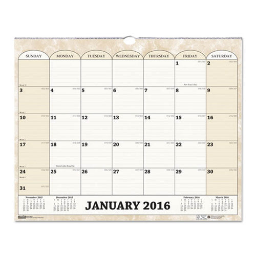 "Monthly Horizontal Wall Calendar, 15"" X 12"", 2020"