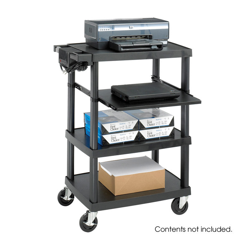 Multimedia Projector Cart w/ Pull-Out Shelf & Electrical Assembly