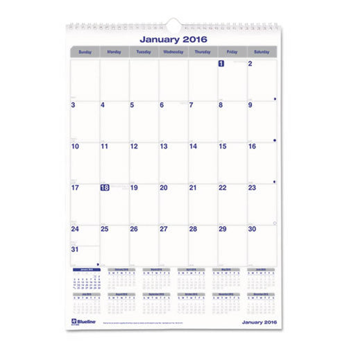 "Net Zero Carbon Monthly Wall Calendar, 17"" X 12"", 2020"