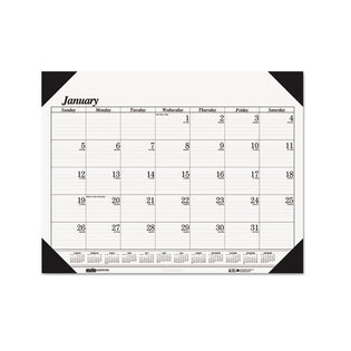 One-Color Refillable Monthly Desk Pad Calendar, 2021