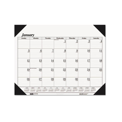One-Color Refillable Monthly Desk Pad Calendar, 2020