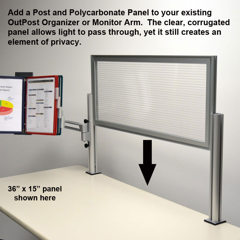 "24""w x 15""h 1 Post Panel System"