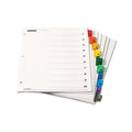 OneStep Printable Table of Contents Dividers w/ Tabs, 1-10, Letter