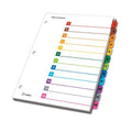 OneStep Printable Table of Contents Dividers w/ Tabs, 1-12, Letter (set of 12)