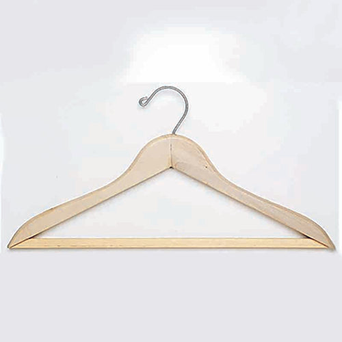 Open Hook Wood Hanger, Natural