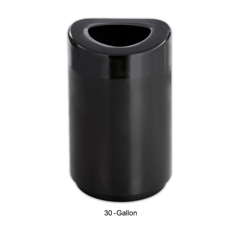 Open Top Trash Can, Black