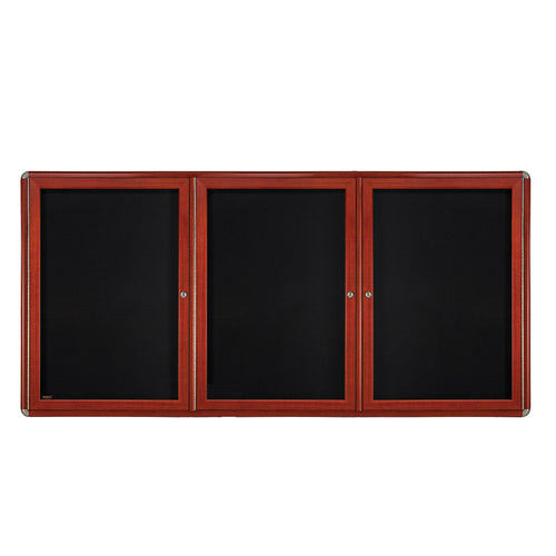 "Ovation 72"" x 48"" 3-Door Enclosed Bulletin Board"