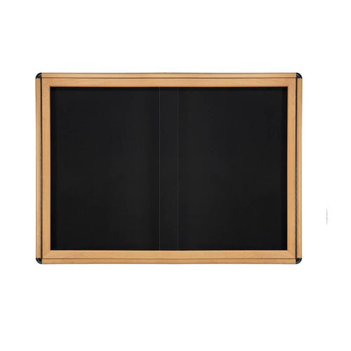 "Ovation 47"" x 34"" 2 Sliding Door Enclosed Bulletin Board"