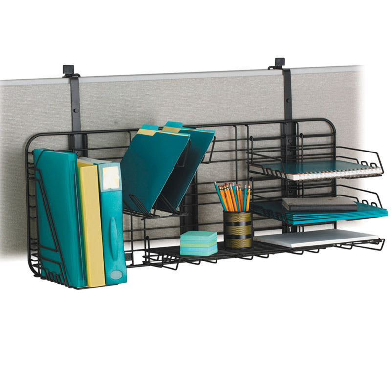 Over-the-Panel Workstation Organizer, Black