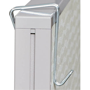 Partition Garment Hook (pack of 2), Silver