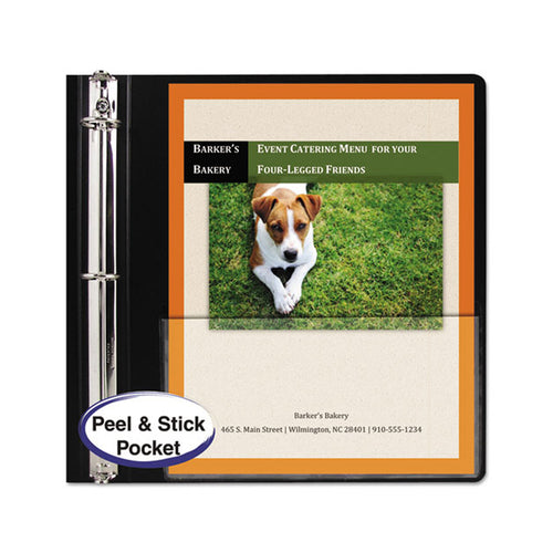 Peel & Stick Add-On Filing Pockets for Letter Size (pack of 10)