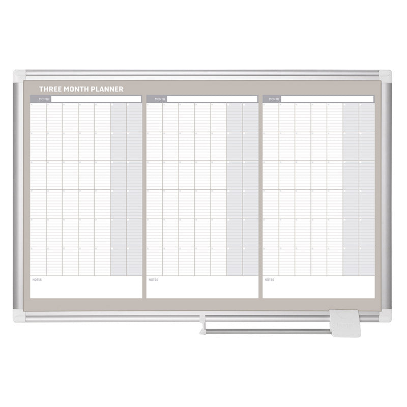 3 month planner aluminum frame 36 x 24 ultimate office