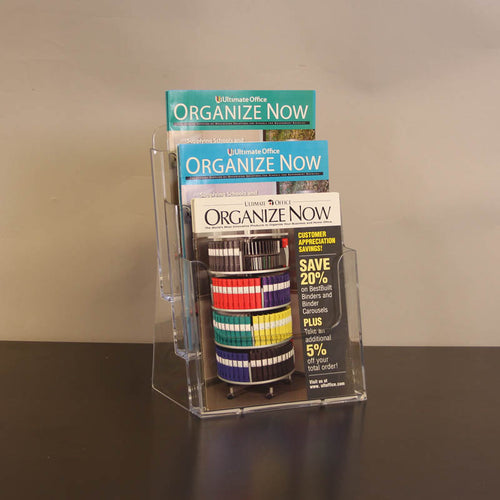 3-Pocket Acrylic Countertop Literature Display