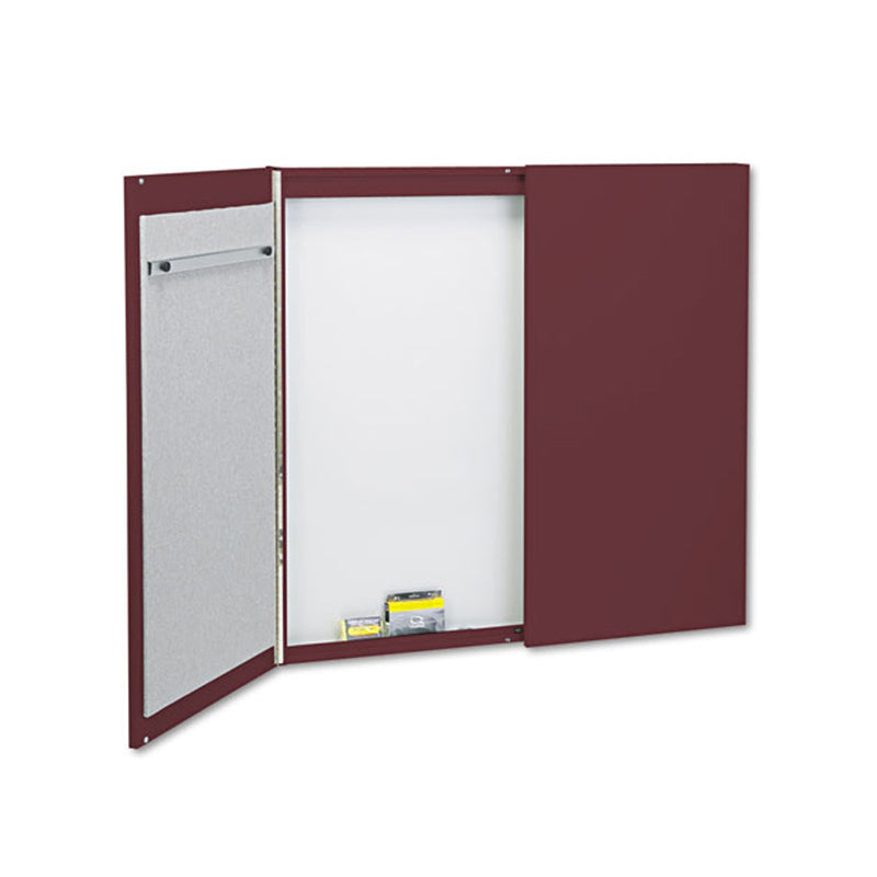 Porcelain Magnetic Whiteboard Cabinet with Doors