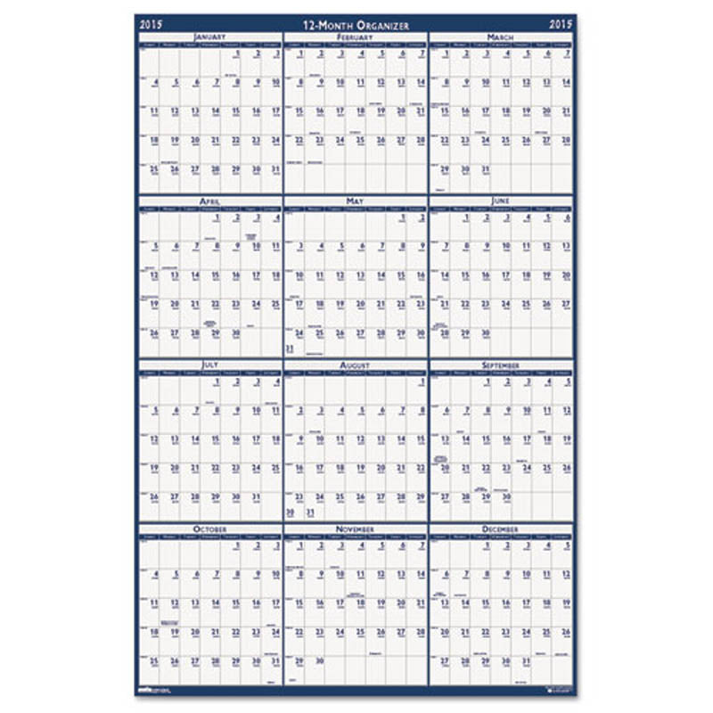 poster style reversible erasable year calendar ultimate office