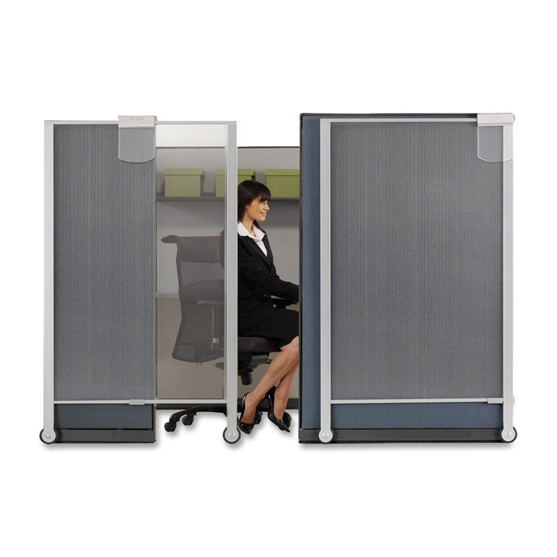 Premium Workstation Privacy Screen Translucent Slvr