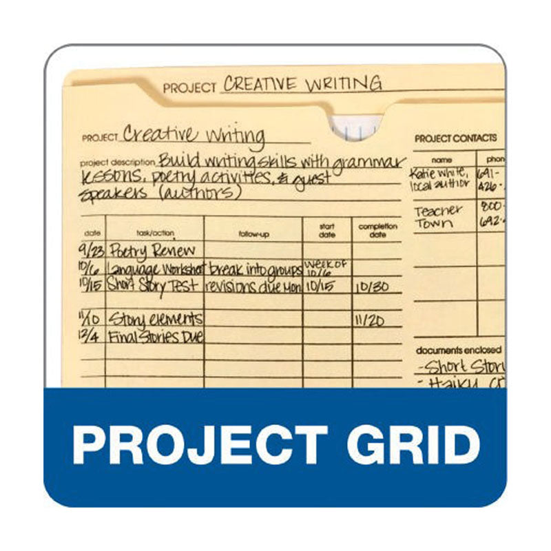 "Preprinted Expanding Project Jackets, 2"" Expansion, Letter (box of 50)"