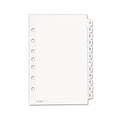 "Preprinted Tab Dividers w/ Black & White Tabs, Jan-Dec, 5 1/2"" x 8 1/2"", White (set of 12)"