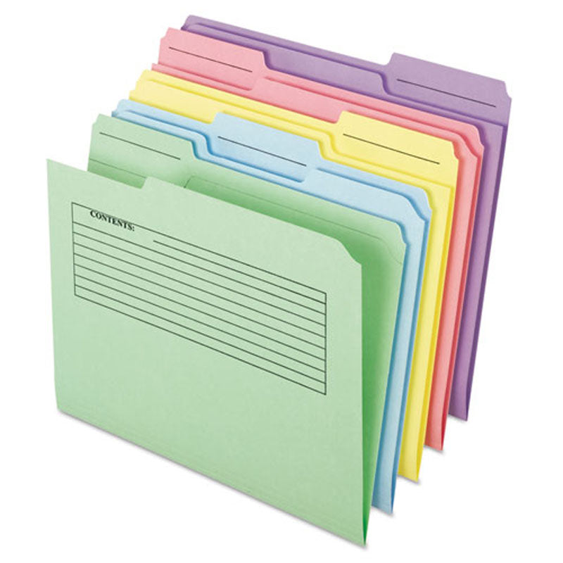 Printed Notes Top Tab File Folders, 3rd-Cut, Letter (pack of 30)