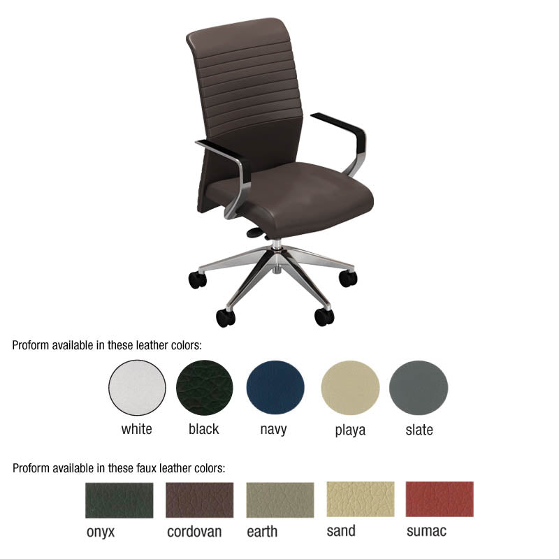 Proform Conference Chair w/Synchro Control & Side Tension and Polished Base