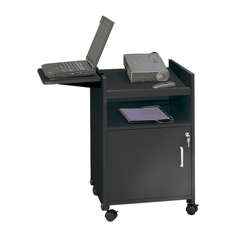 Projector Stand w/ Locking Cabinet, Black