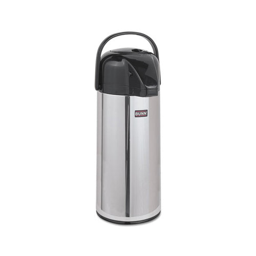 Push-Button 2.2 Liter Airpot, Stainless Steel