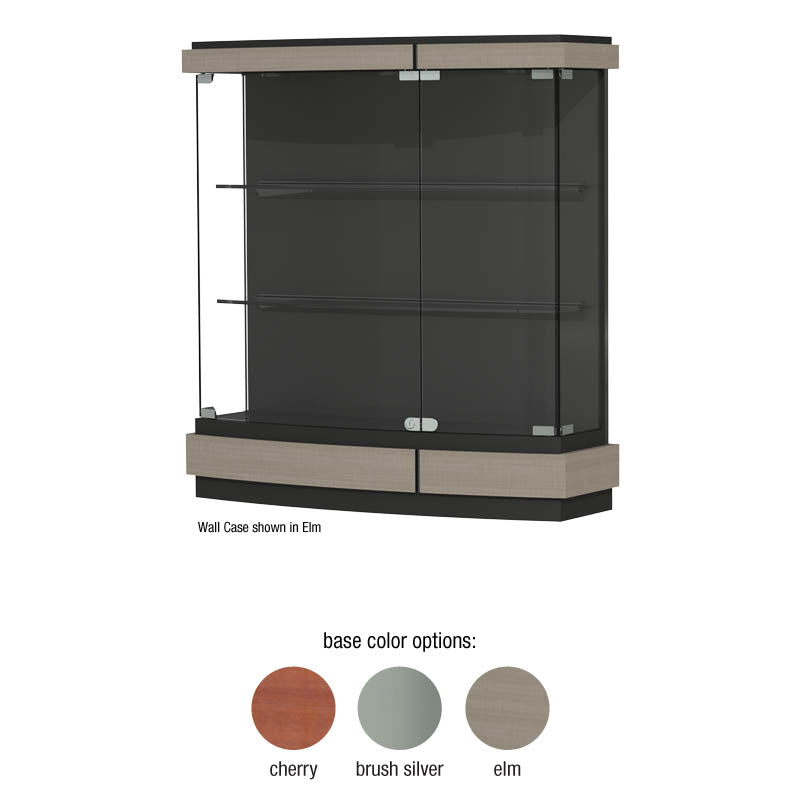 "Quantum 42""w x 44""h x 12""d Lighted Wall Display Case"