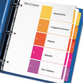 Ready Index Table of Contents Dividers w/ Tabs, 1-5, Letter