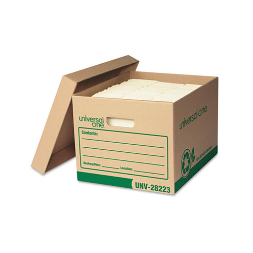 "Recycled Heavy-Duty Record Storage Boxes, Letter/Legal, 12""w x 15""d x 10""h, Kraft"
