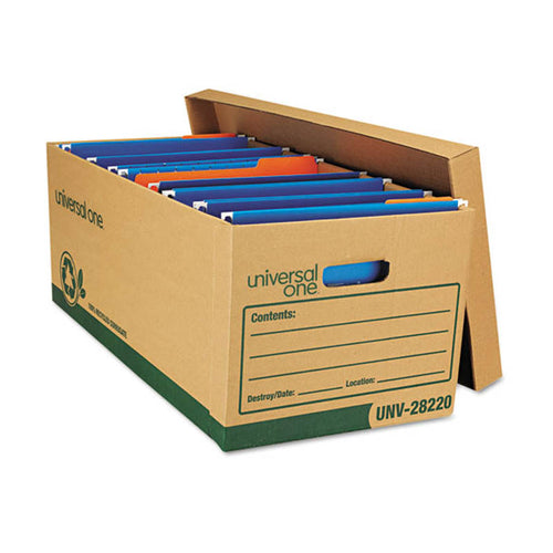 Recycled Medium-Duty Record Storage Boxes, Kraft (set of 12)