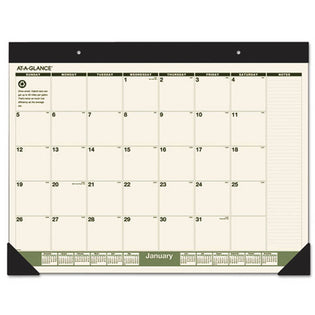 "Recycled Monthly Desk Pad, 22"" X 17"", 2021"
