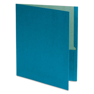 Recycled Twin-Pocket Folders, Letter, Box of 25