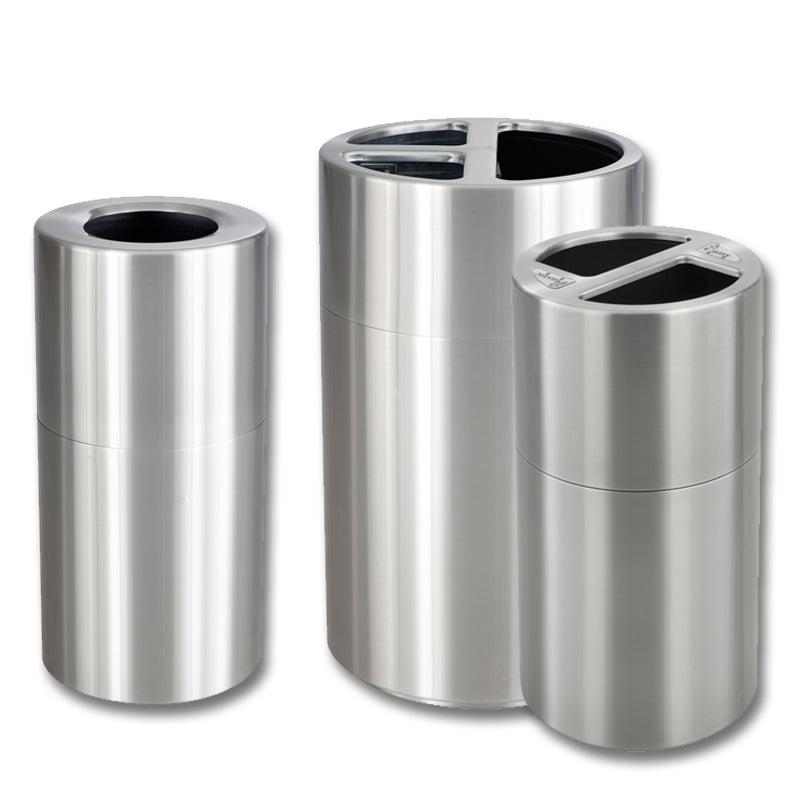 Recycling/Trash Can, Stainless Steel