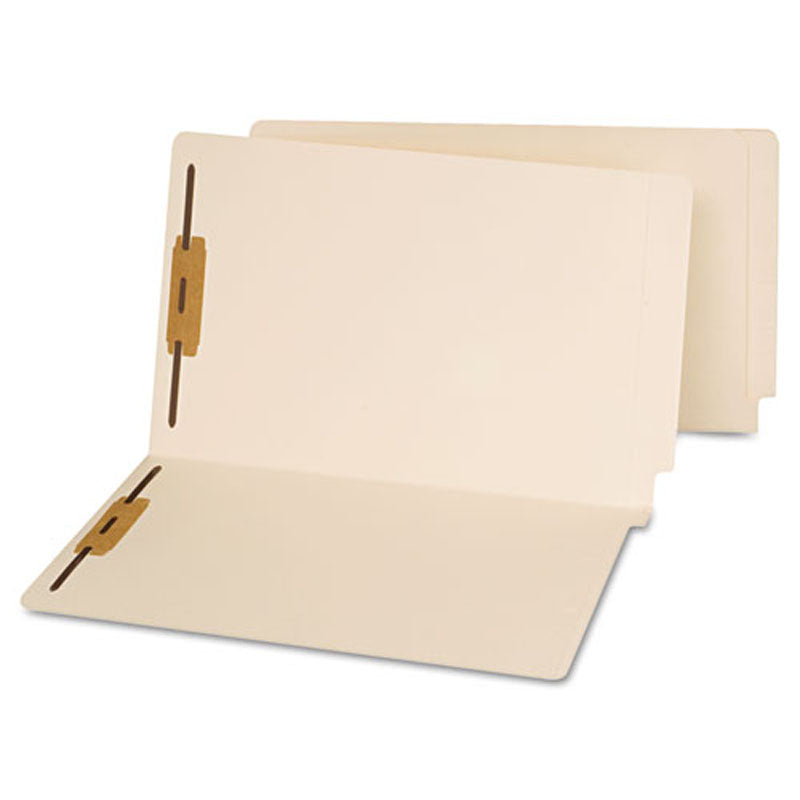 Reinforced Manila End Tab Folders w/ Fasteners (box of 50)