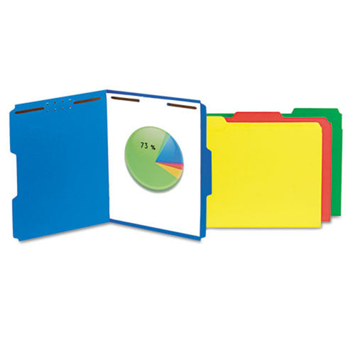 Reinforced Top Tab File Folders w/ Fastener, 3rd-Cut (box of 50)