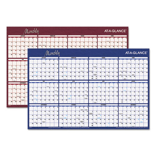 Reversible Horizontal Erasable Wall Planner, 2019