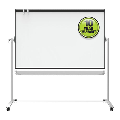 Reversible Magnetic Mobile Whiteboard/Flipchart w/ Graphite Frame