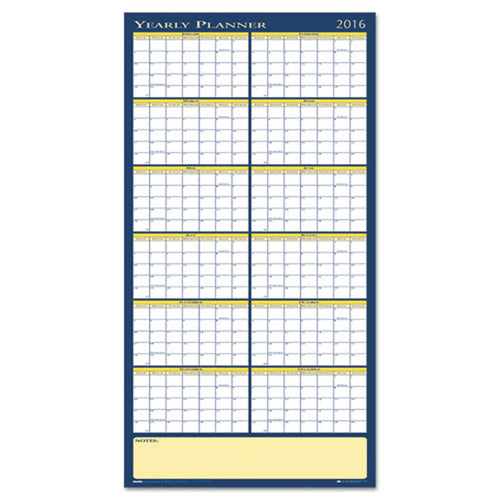 "Reversible Yearly Wall Planner, 60"" X 26"", 2019"