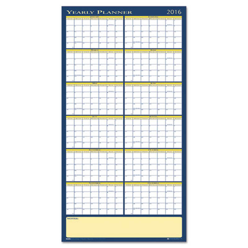 reversible yearly wall planner ultimate office