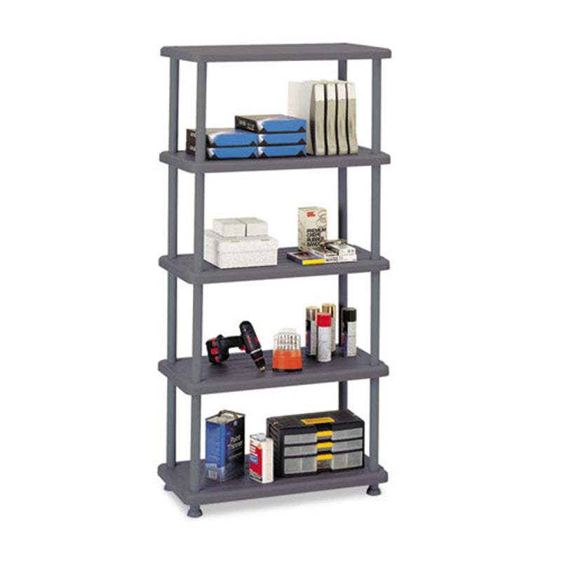 "Rough N Ready Five-Shelf Open Storage System,  36""w X 18""d X 74""h"