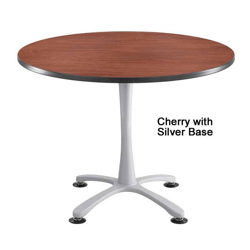 Round Sitting-Height Table w/ X Base